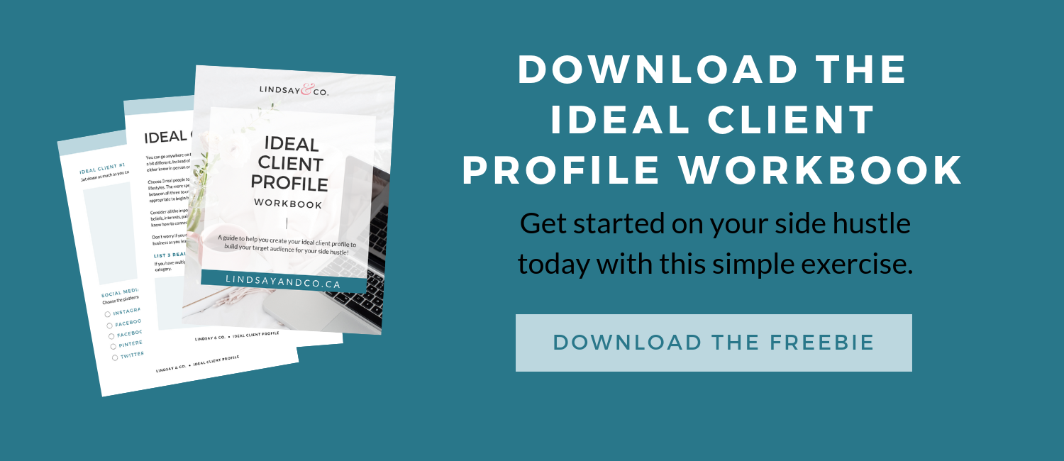 Free Ideal Client Workbook for Side Hustlers