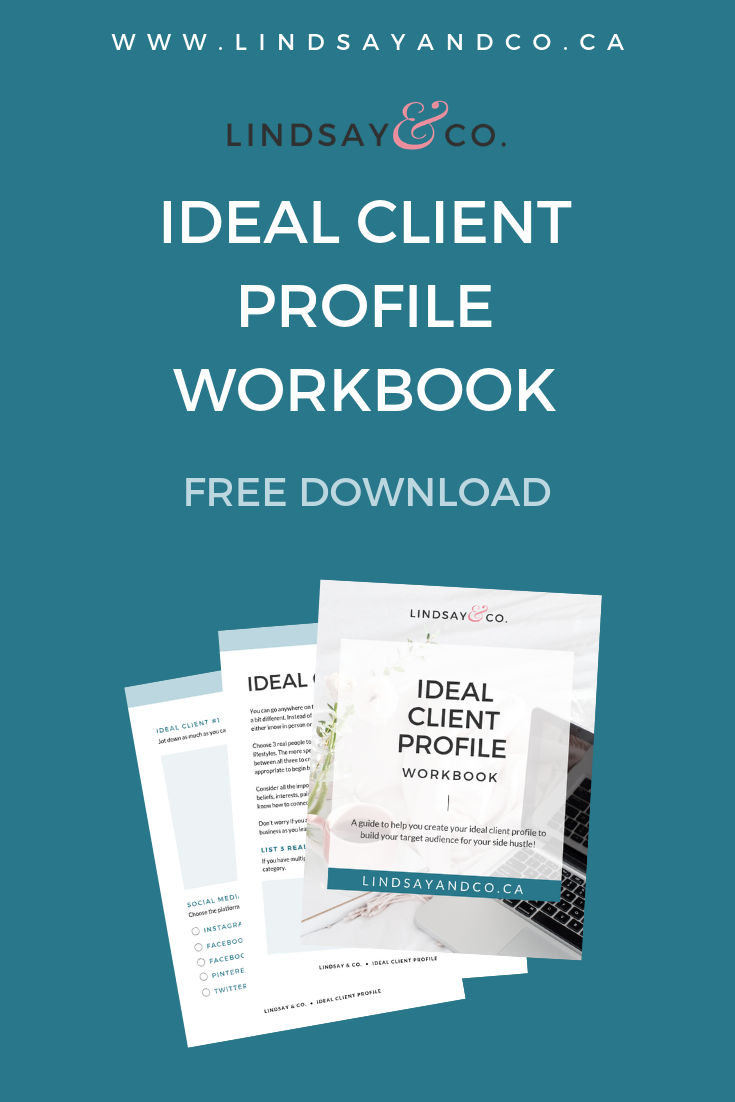 Idea Client Profile Workbook for Side Hustle