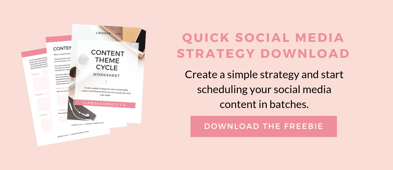Quick social media strategy freebie