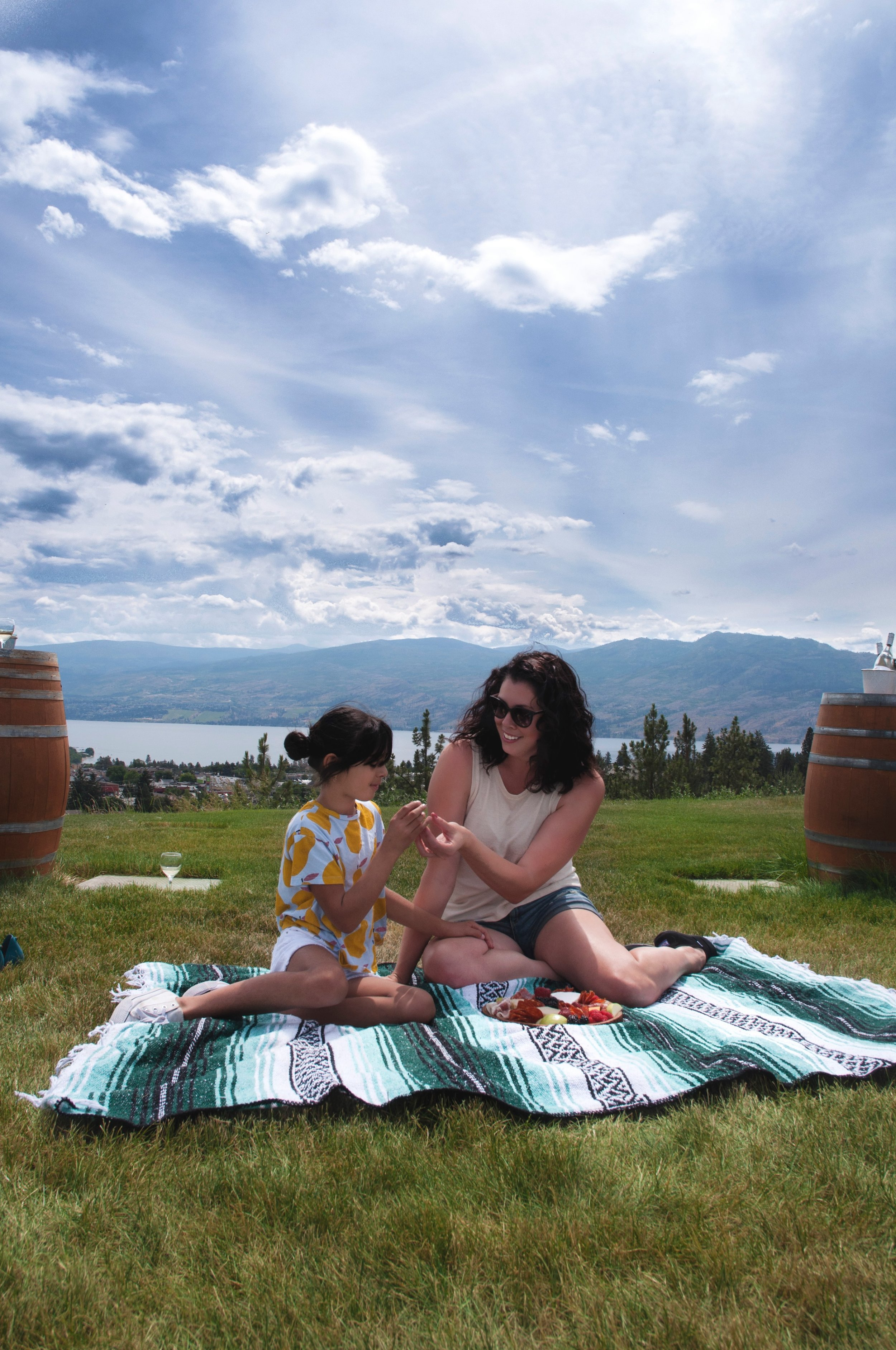 Beautiful Okanagan Valley with my daughter, Zaza. Photo by Devoted Designs