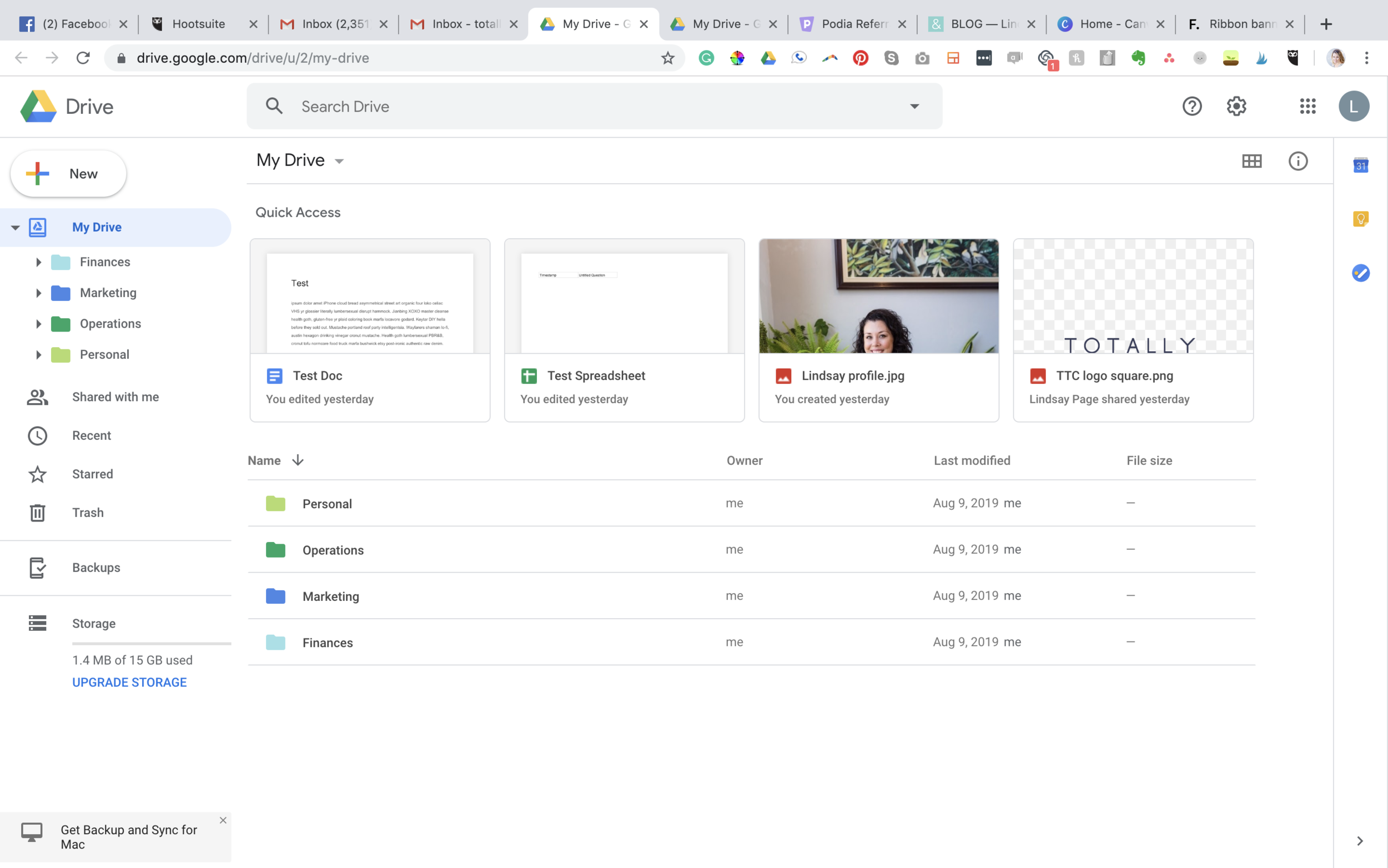 Welcome to the main landing page for Google Drive