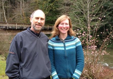 Leslie with Chuck Burget  RPF Scholarship Chair