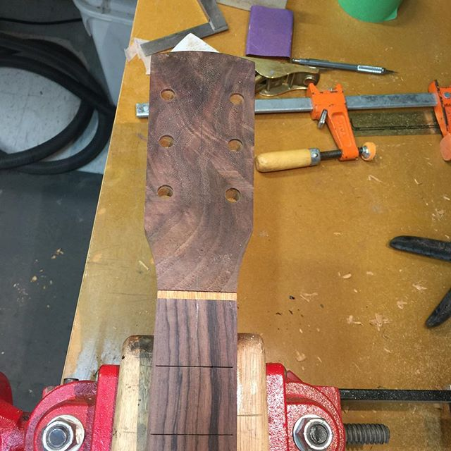 Walnut limb crotch. #guitar #guitarist #livefolk #acoustic #guitargram #luthier #luthiery #luthierlife  #luthierguitars #handmade #acousticguitar #handmadeguitar #handmadelife #woodworker #woodworkersofinstagram #guitarsofinstagram #customguitars