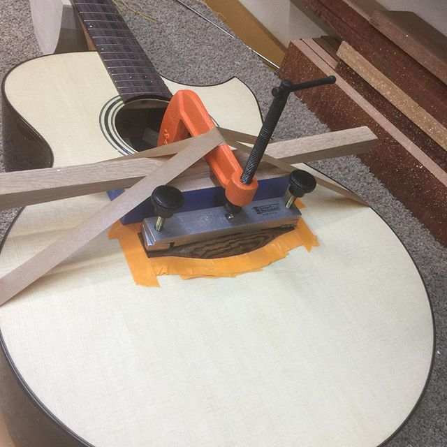 Bridge of Bocote wood. #guitar #guitarist #livefolk #acoustic #guitargram #luthier #luthiery #luthierlife  #luthierguitars #handmade #acousticguitar #handmadeguitar #handmadelife #woodworker #woodworkersofinstagram #guitarsofinstagram #customguitars