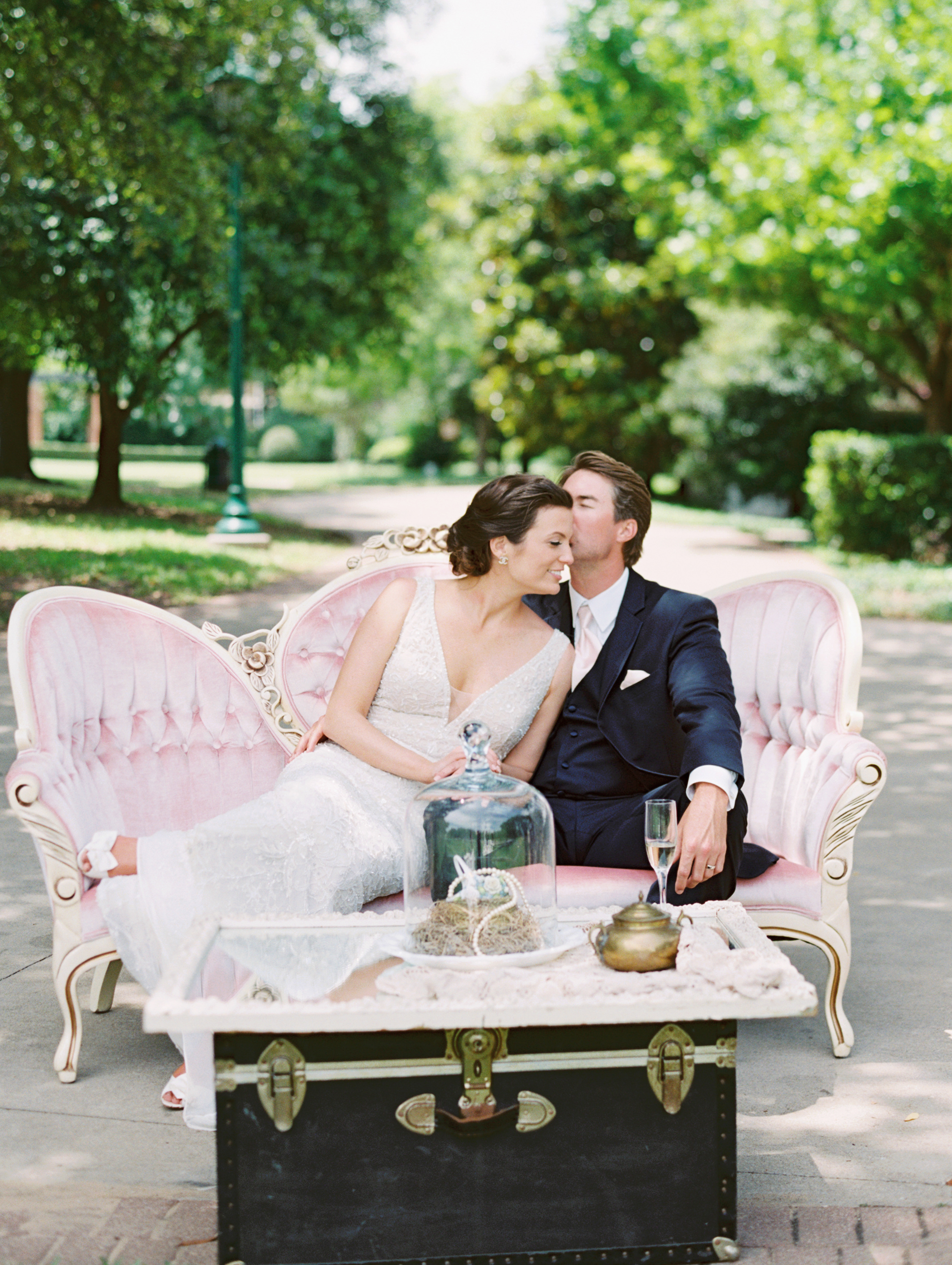 Meagan + Jacob = Brunch Garden Wedding at Arlington Hall .   Stephanie brazzle photography