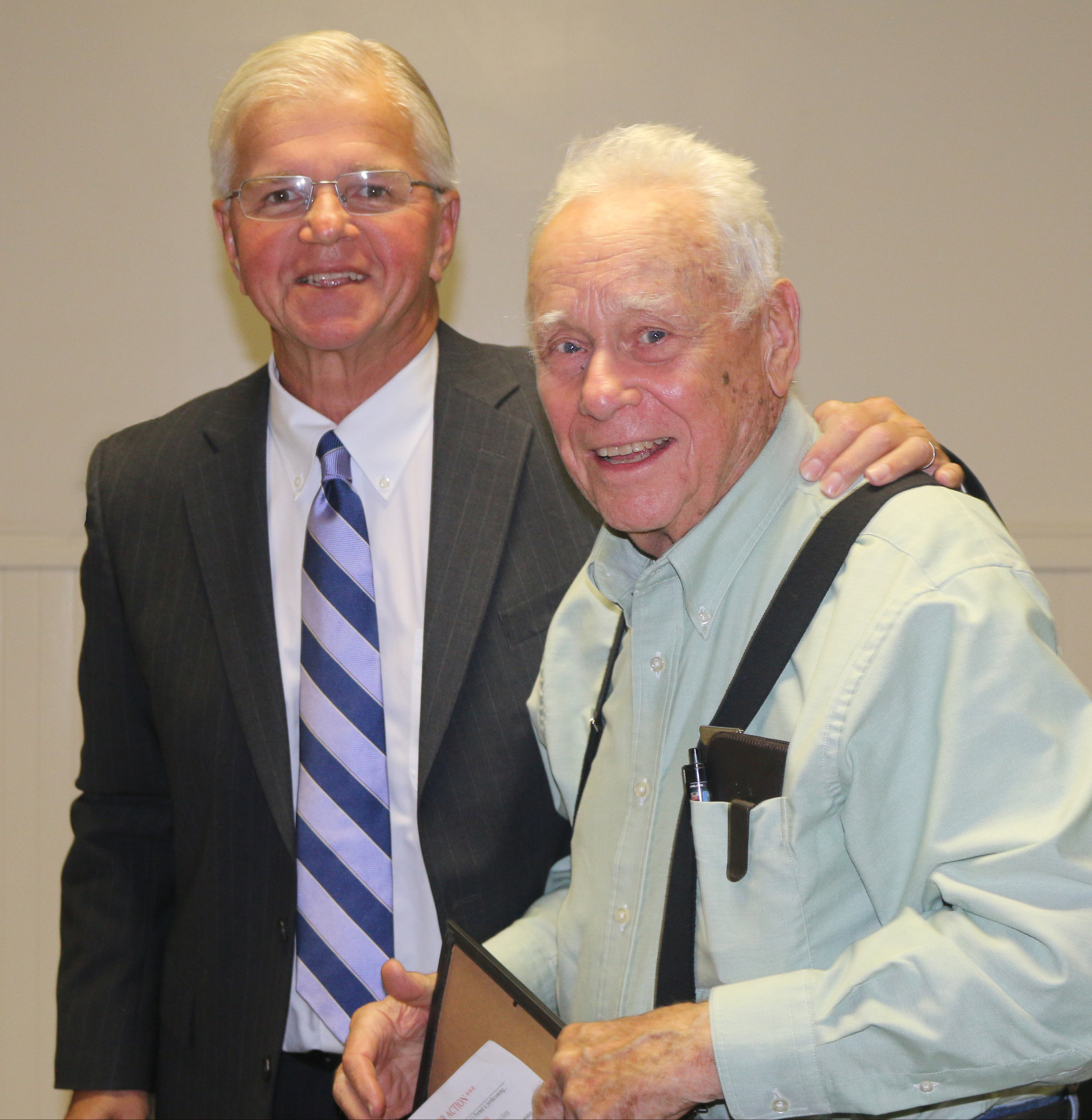 John Anderson receives proclamation from Assemblyman Fred Thiele