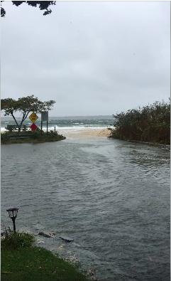Video of Flooding at Bay Ave, Noyac. October 27, 2018