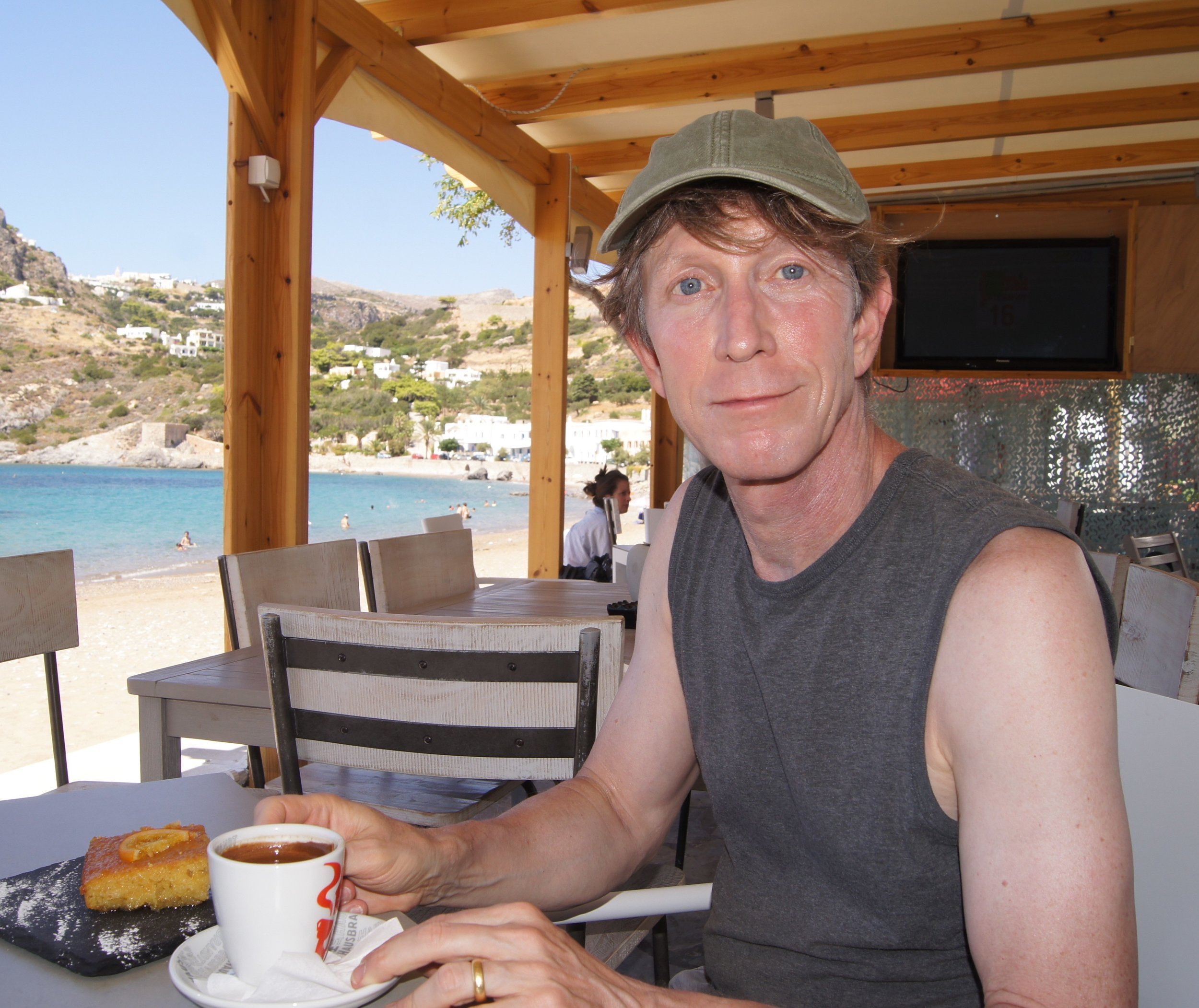 Though born and raised in Minnesota, Christopher Gauker is now Professor of Theoretical Philosophy at the University of Salzburg, Austria.  He is shown here in an uncommonly relaxed mood on a beach in Greece.  His books include   Words without Meaning  (MIT 2003)  and   Words and Images: An Essay on the Origin of Ideas  (Oxford 2011) .