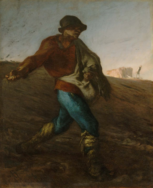 The Sower  by Jean-François Millet (1850)