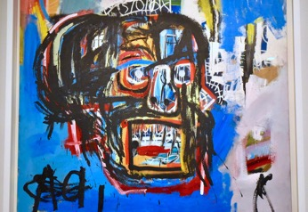 Figure 1: An untitled painting by Jean-Michel Basquiat sold at an auction for over $100 million.
