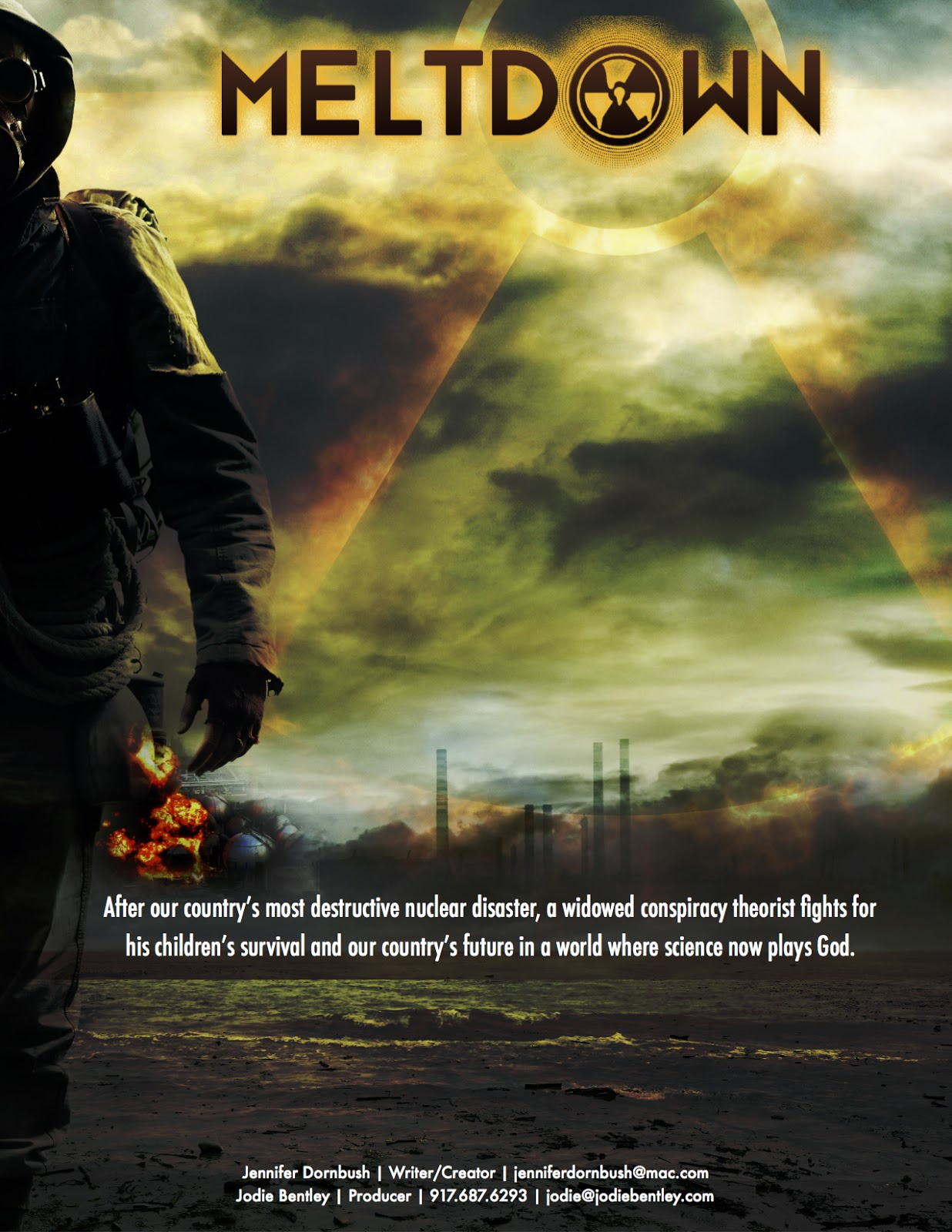 Meltdown - After our country's most destructive nuclear disaster, a widowed conspiracy theorist fights for his children's survival and the country's future in a world where science plays God.
