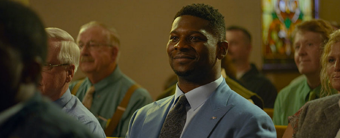 Ladainian Tomlinson, our fearless pastor, on the set of  God Bless the Broken Road.