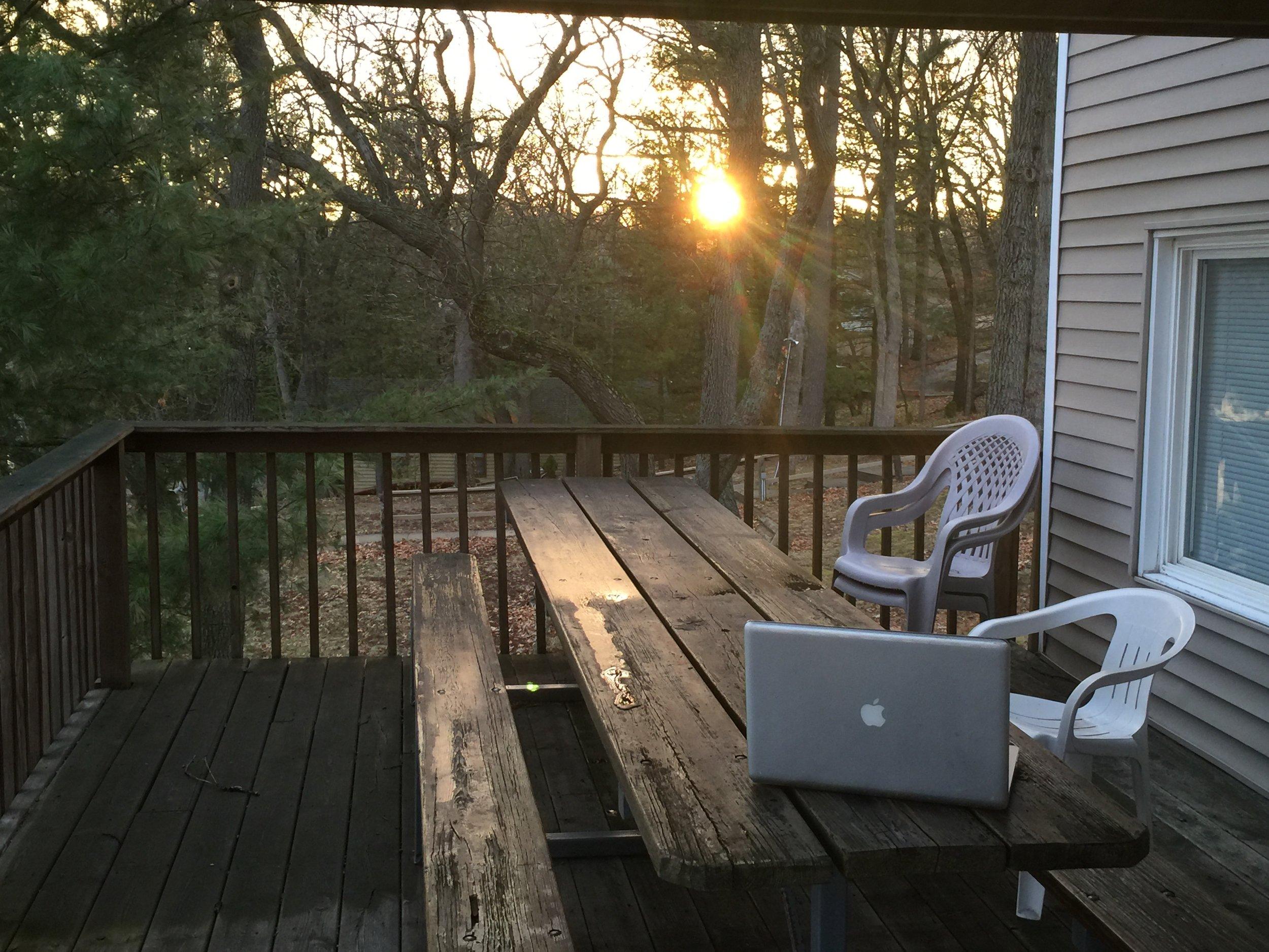 My favorite writing retreat… gold tip #5.