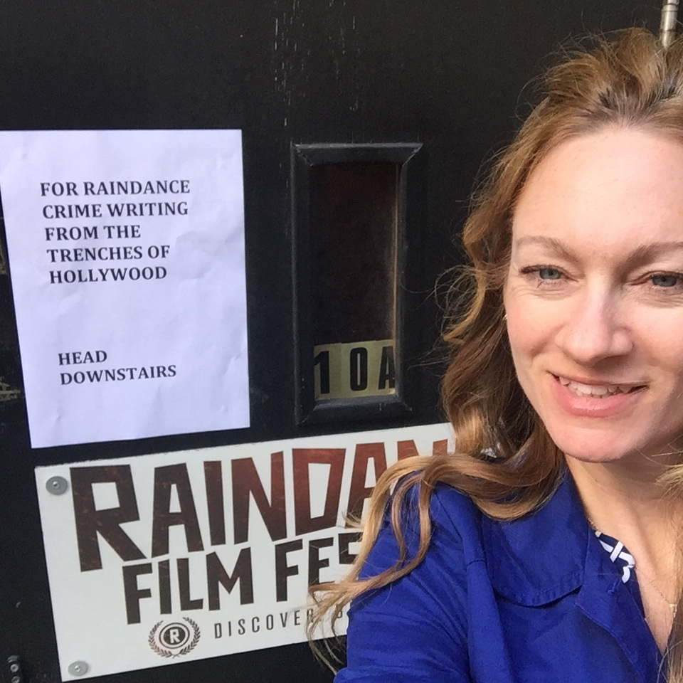 Arriving Raindance, London to teach a weekend on crime writing.