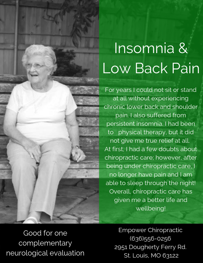 For years I could not sit or stand at all without experiencing chronic lower back and shoulder pain. I also suffered from persistent insomnia. I had been to physical therapy, but it did not give me true relief at al.png