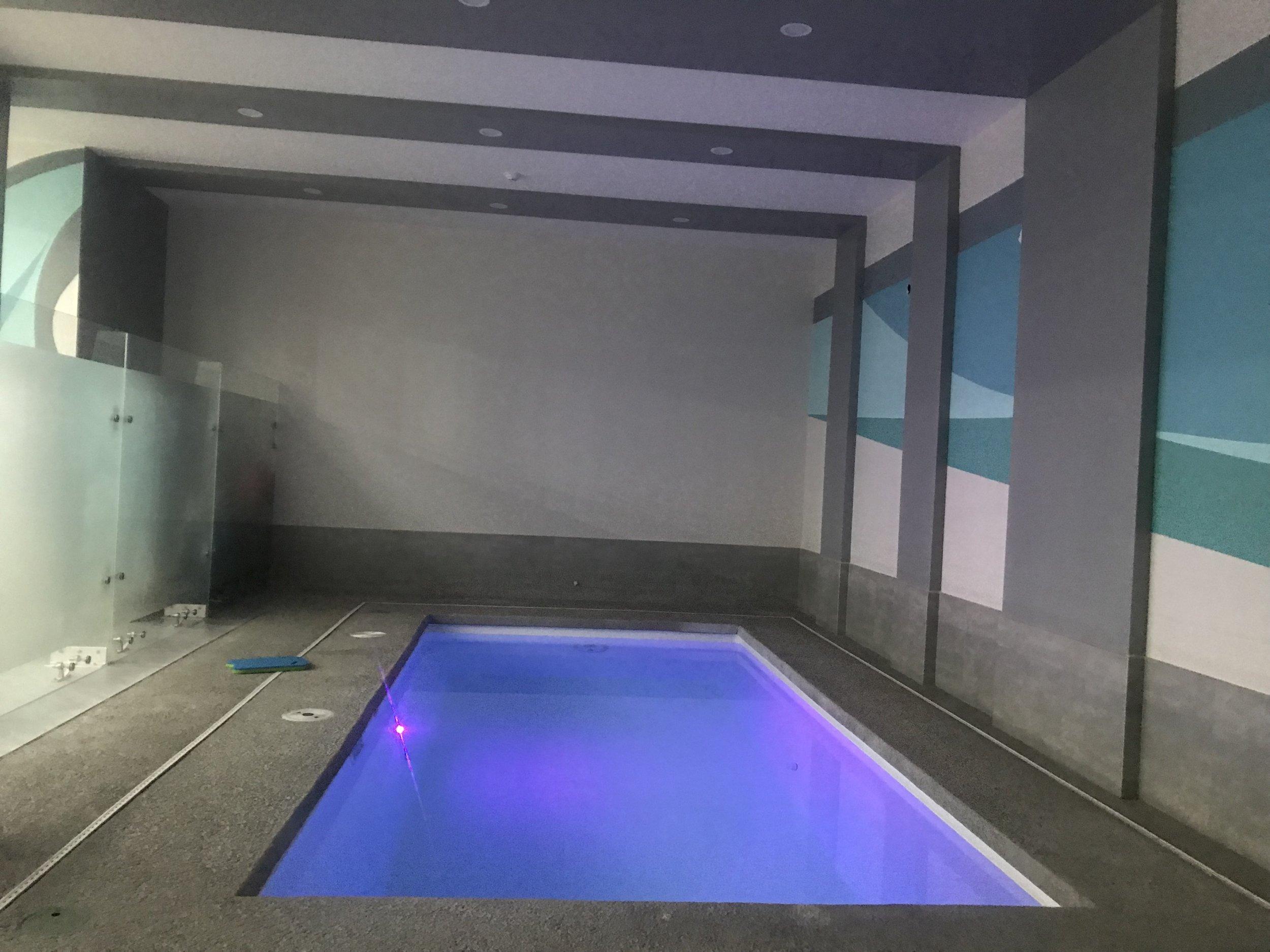 """Alberca climatizada con función """"endless pool"""""""