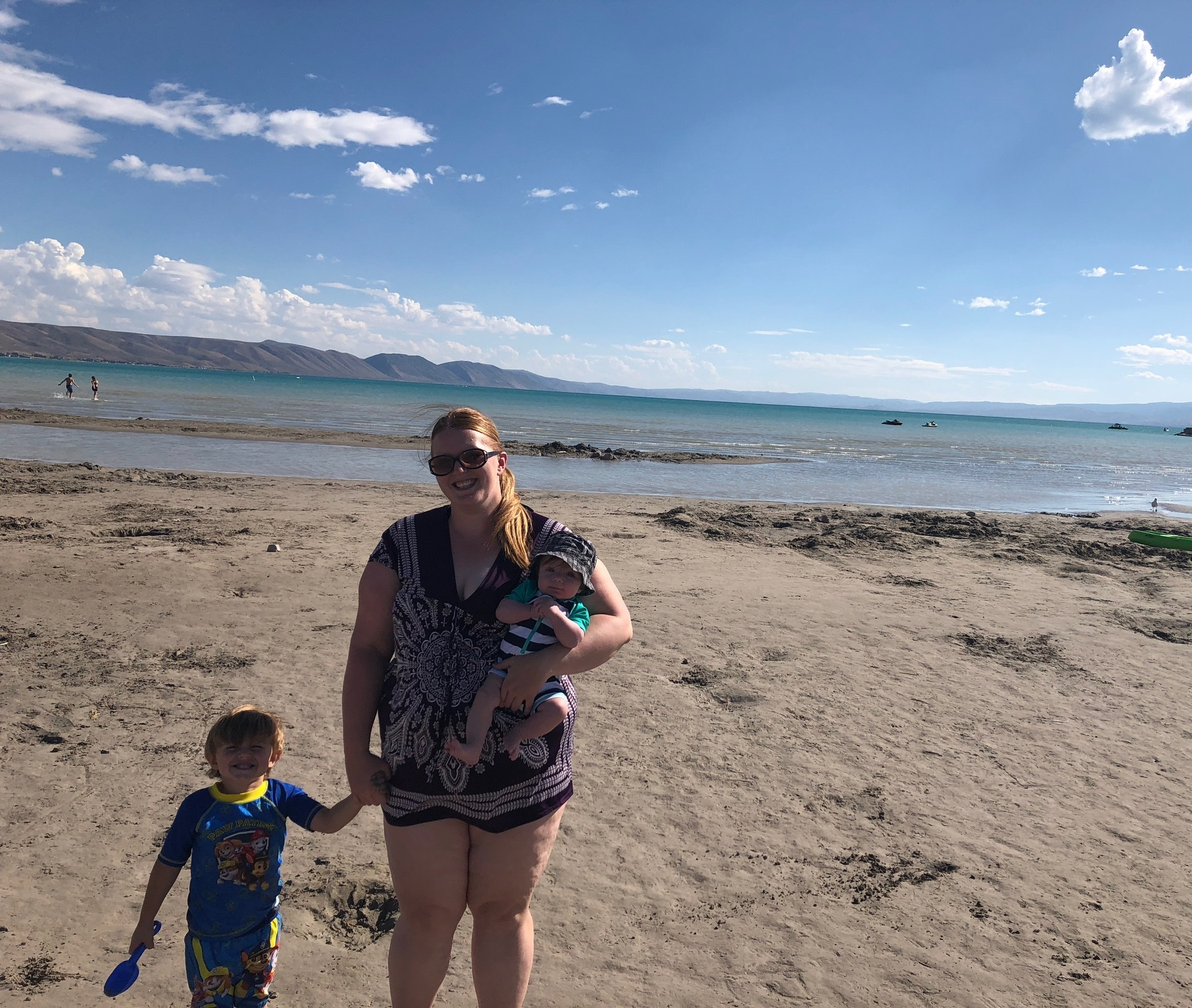 beach with boys