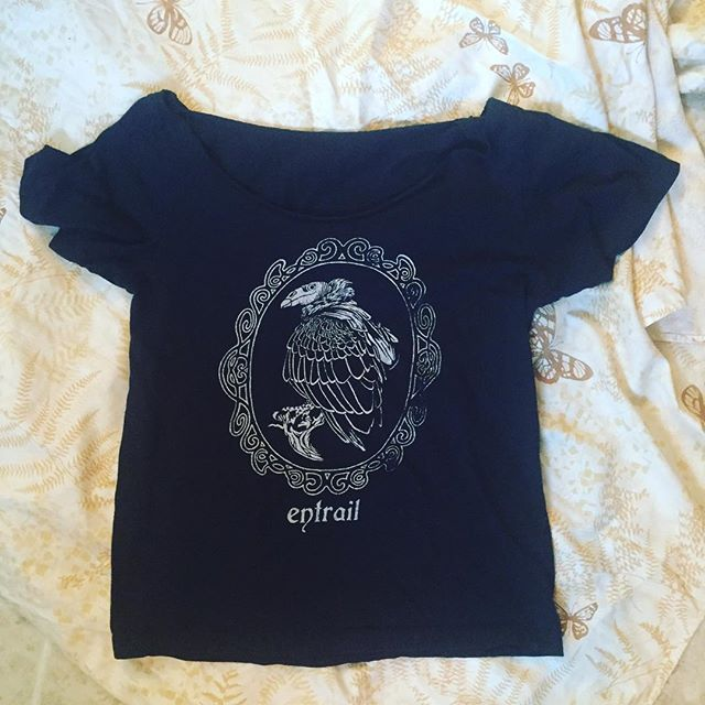 Discovered this @entrail shirt while doing KonMari on my clothes. I printed these for the release of my first album, Ursula. Size small, wide cut neck. The last of its kind. Any takers?