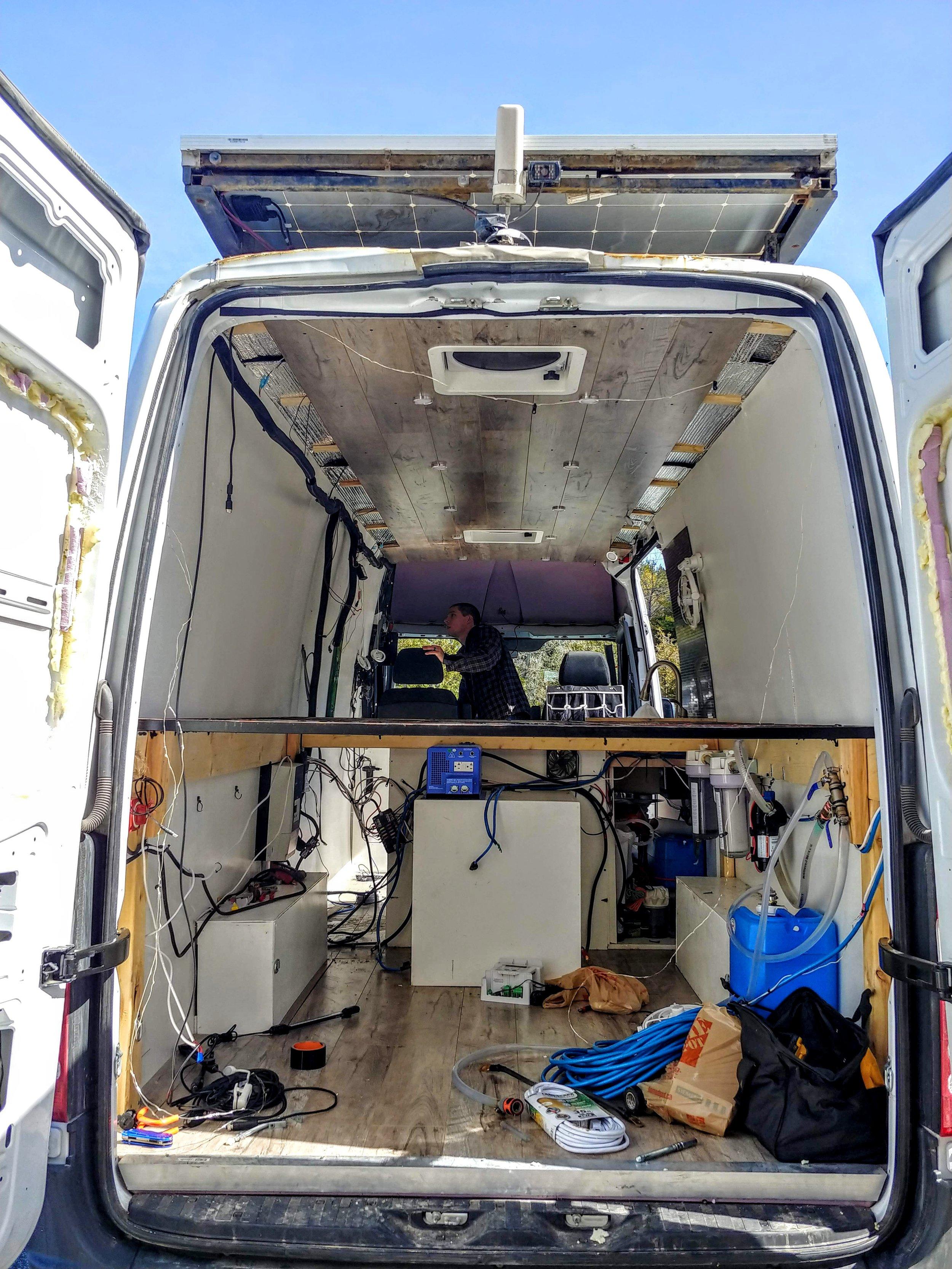Preparing the van for body repairs & electrical upgrade - April 2019