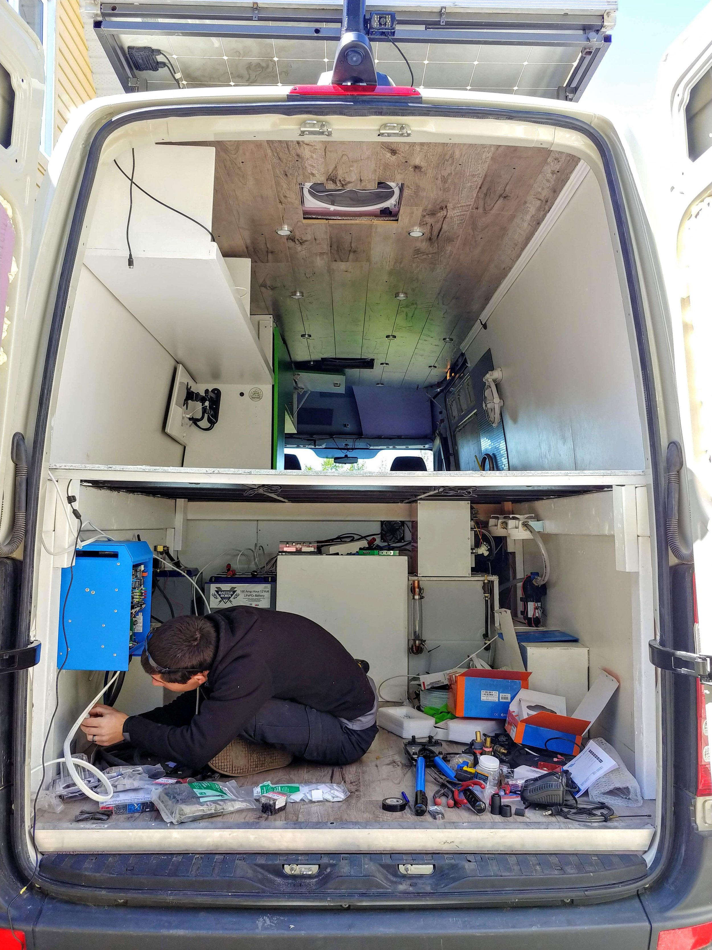 Re-assembling the van after body repairs and completing upgrades - June 2019