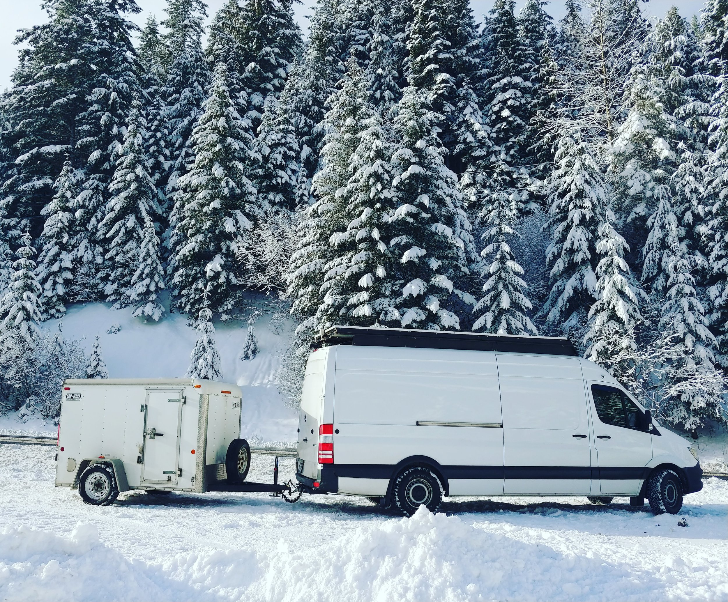 V&M towing the Ray Outfitted trailer across Canada.
