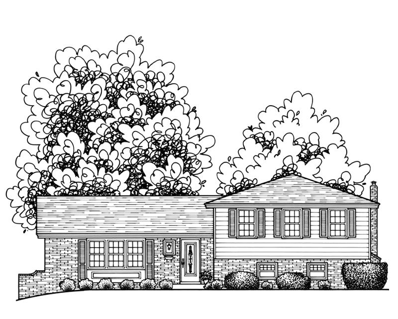 Custom Home Illustration by Katie Danner