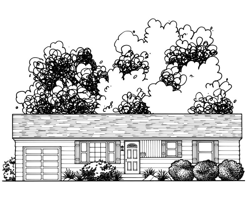 Katie Danner Studio Custom Home Drawing