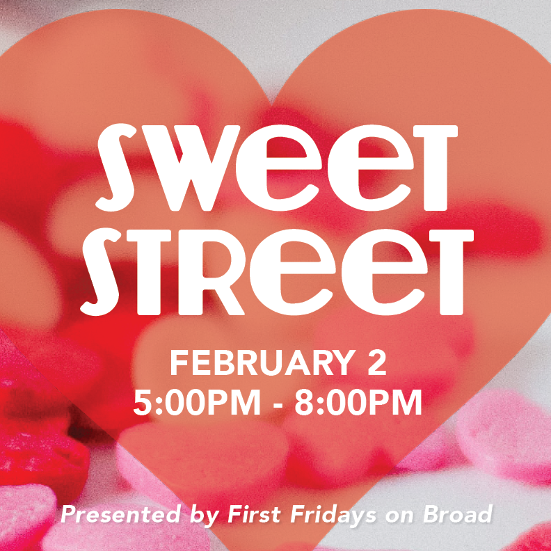 Bundle up, and head to the Broad Avenue Arts District for a sweet party. Get your $5 punch card and sample mouthwatering treats from local retailers. At the conclusion of your Sweet Street tour, drop off your card for a chance to win a basket of Broad Avenue goodies! The event is from 5 p.m. to 8 p.m.   Participating Shops:  Wiseacre Brewing Company   City & State   Falling Into Place   Broadway Pizza Memphis   Merchants on Broad   T Clifton Art   Paggios Salon   Bingham & Broad   Mbabazi House of Style   Pedaltown Bicycle Company   Holmes Woodwork   Five in One Social Club   Choate's Air Conditioning, Heating, Plumbing, & Duct Cleaning   Everbloom Designs   Paper&Clay   Question the Answer   Thanks to  Kitbash Brand Design  for the fab graphics