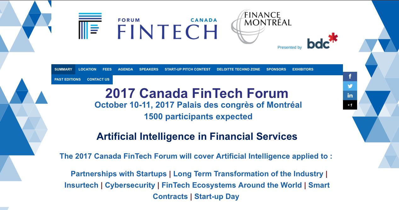 Claudio Rojas Hurt Capital Canada Fintech Forum Montreal