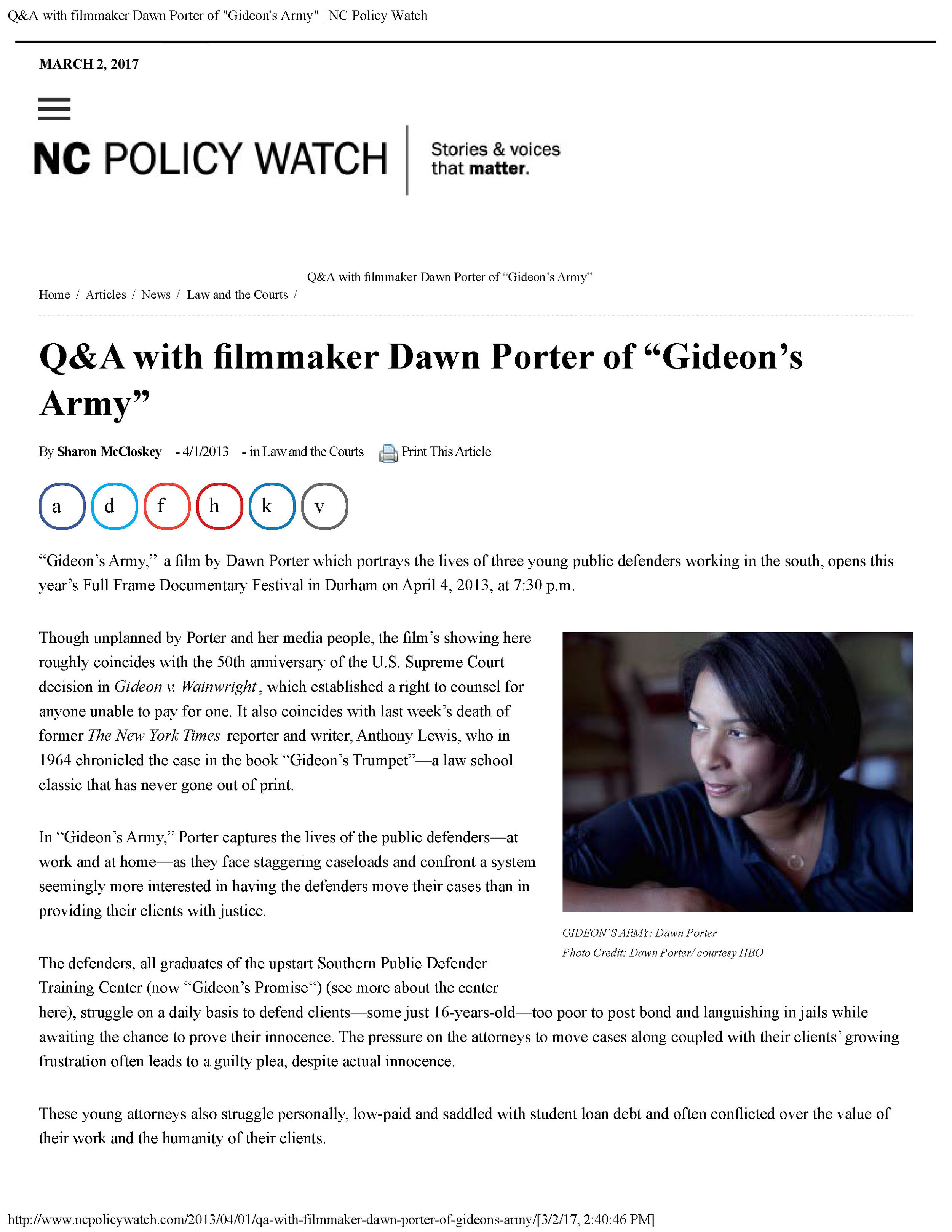 Sharon McCloskey - Q&A with filmmaker Dawn Porter of 'Gideon's Army' - NC Policy Watch_Page_1.jpg