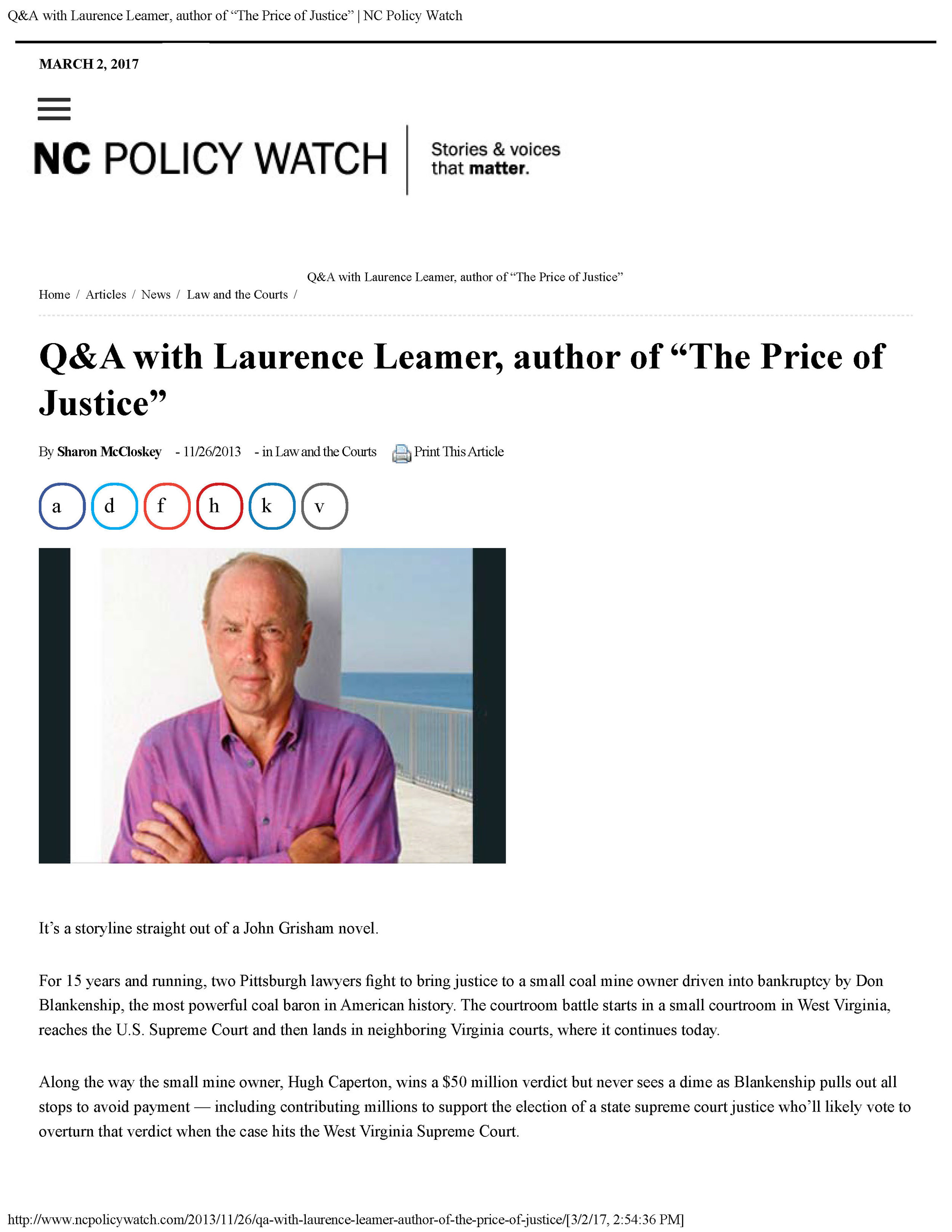 "Sharon McCloskey - Q&A with Laurence Leamer, author of ""The Price of Justice"" - NC Policy Watch_Page_1.jpg"