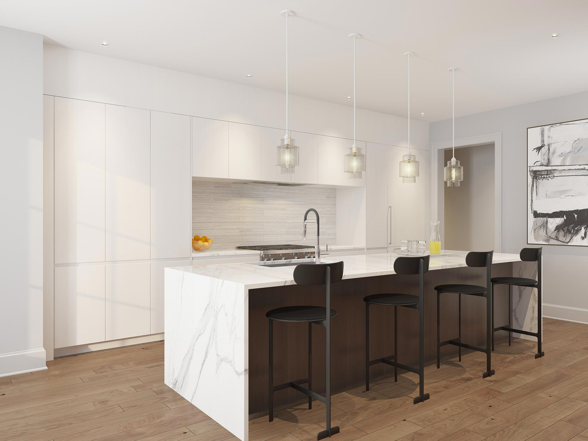 Kitchen - Unit 2E & 3E - Arlington