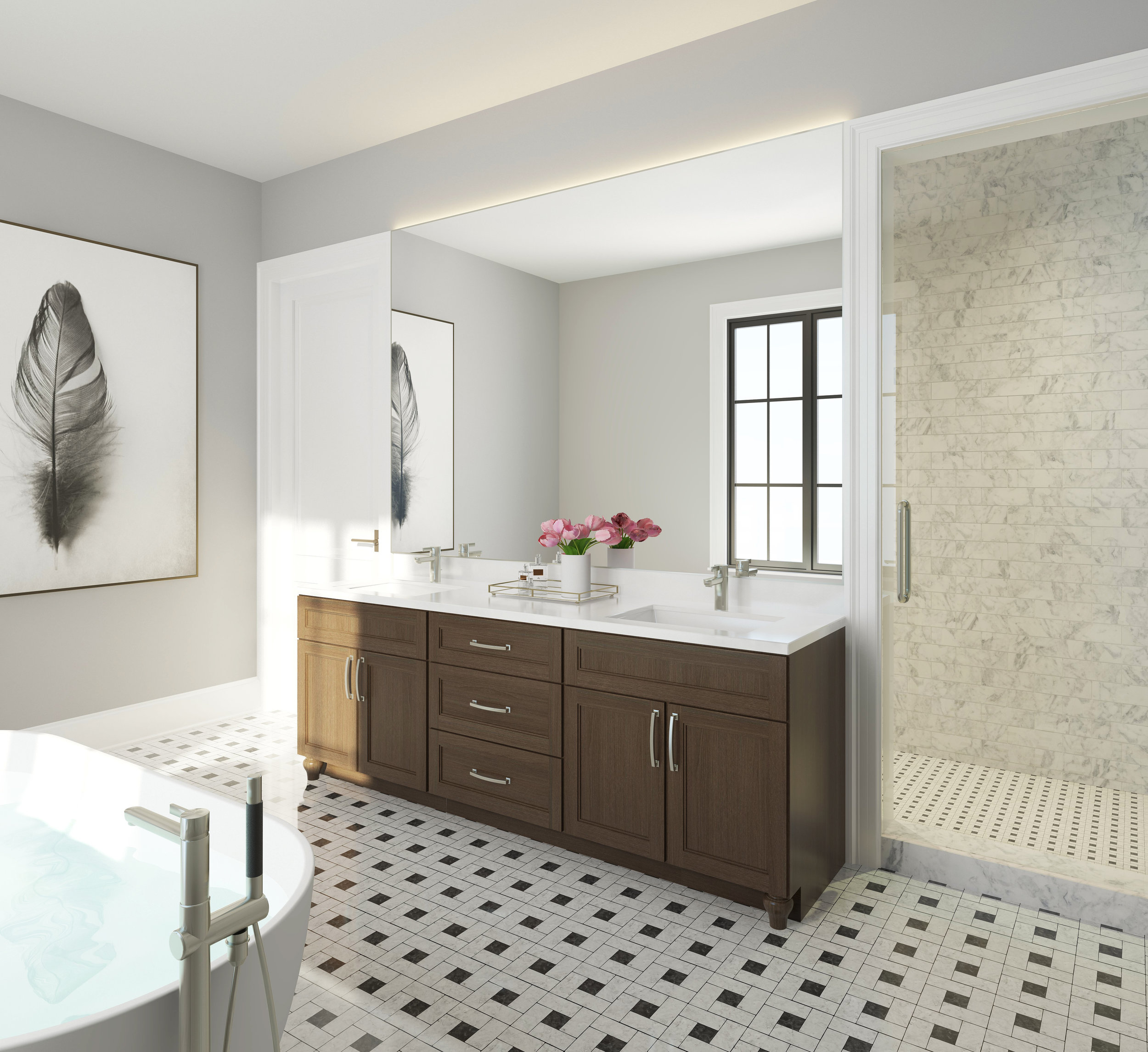 Master Bathroom - Unit 2E, 3E, 4E
