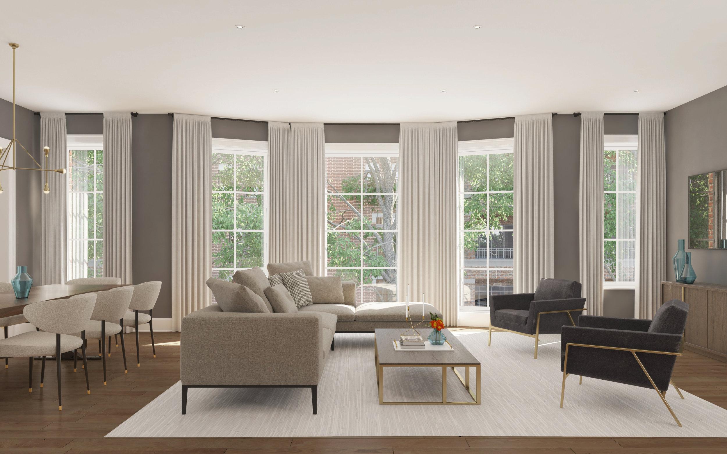 Living Room - Unit 2E & 3E