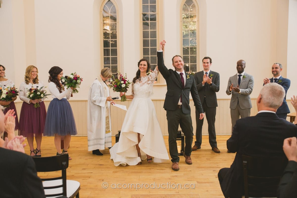 bride ane groom celebrates their offical marriage