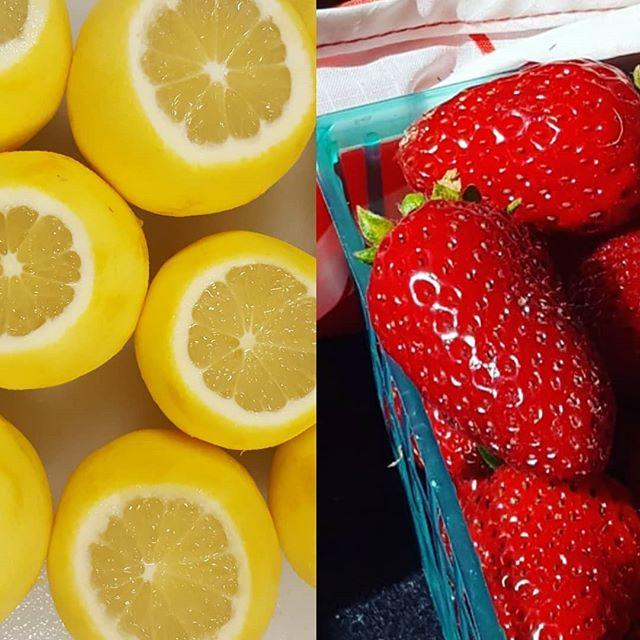 Best of both worlds! This week only! LEMON STRAWBERRY SCONES! 🍓🍋🍓🍋🍓🍋🍓 . . . . . . #bakeshopca #CSB #tastetherainbow #strawberries #lemons #scones #eastbayeats #bayareaeats #walnutcreek#lafayette #orinda #moraga #martinez #contracostacounty #californiacitrus