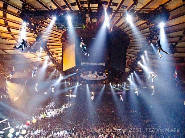 Aerial Harness Phish at Madison Square Garden