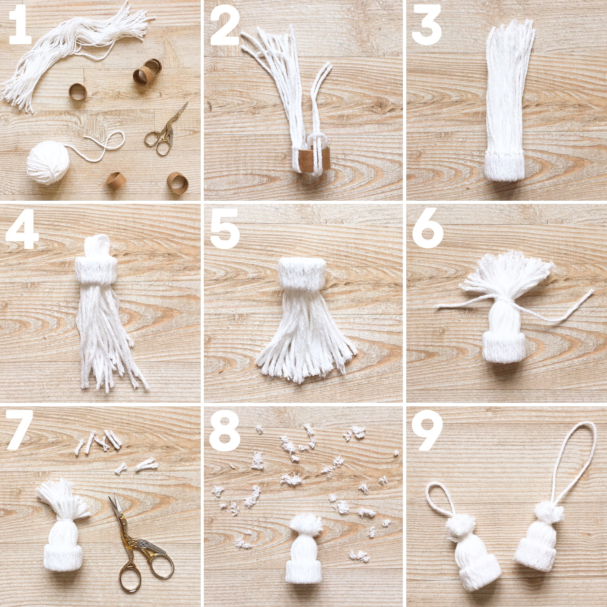 How to make an ornament from yarn. DIT tiny hat ornament