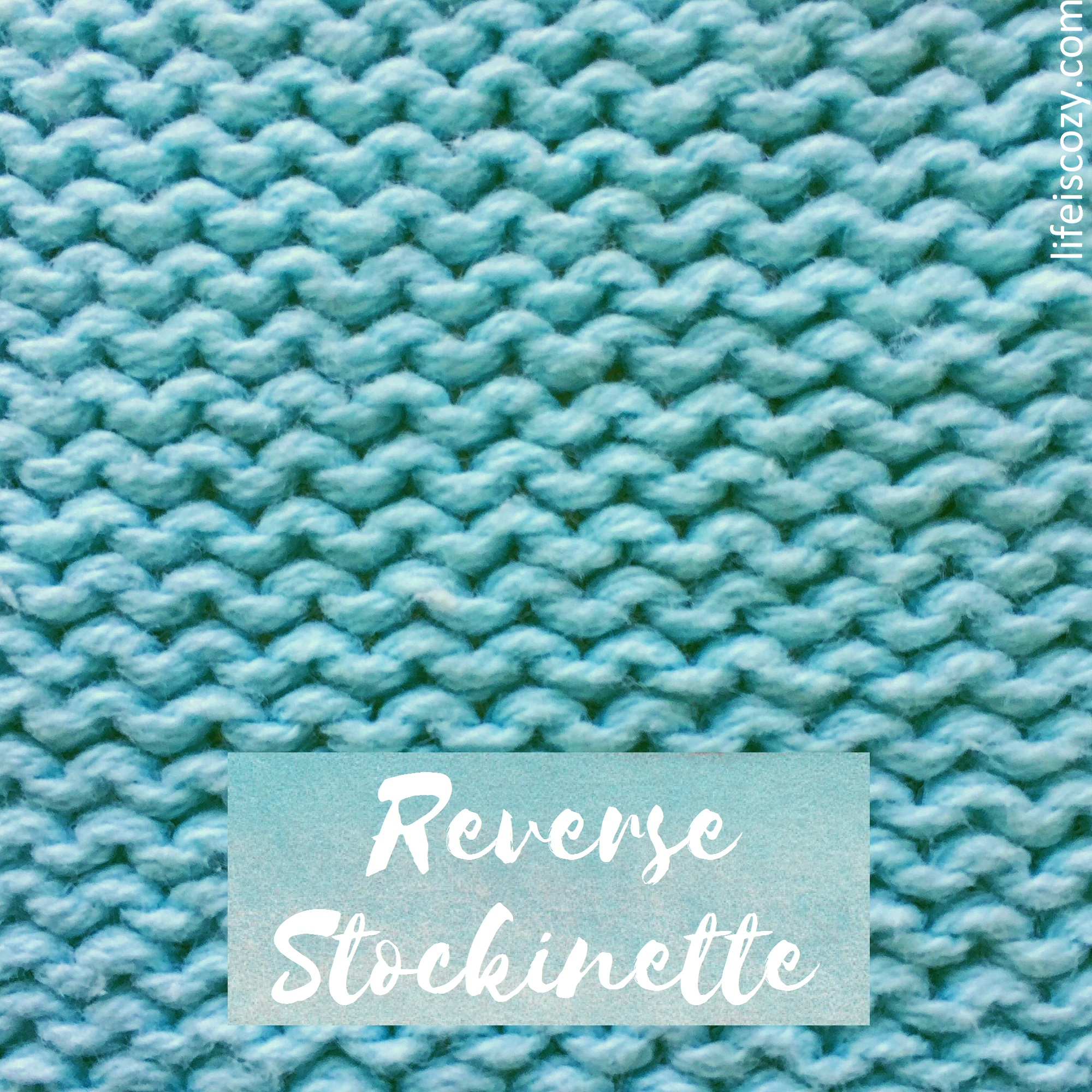 Reverse Stockinette Stitch How to knit