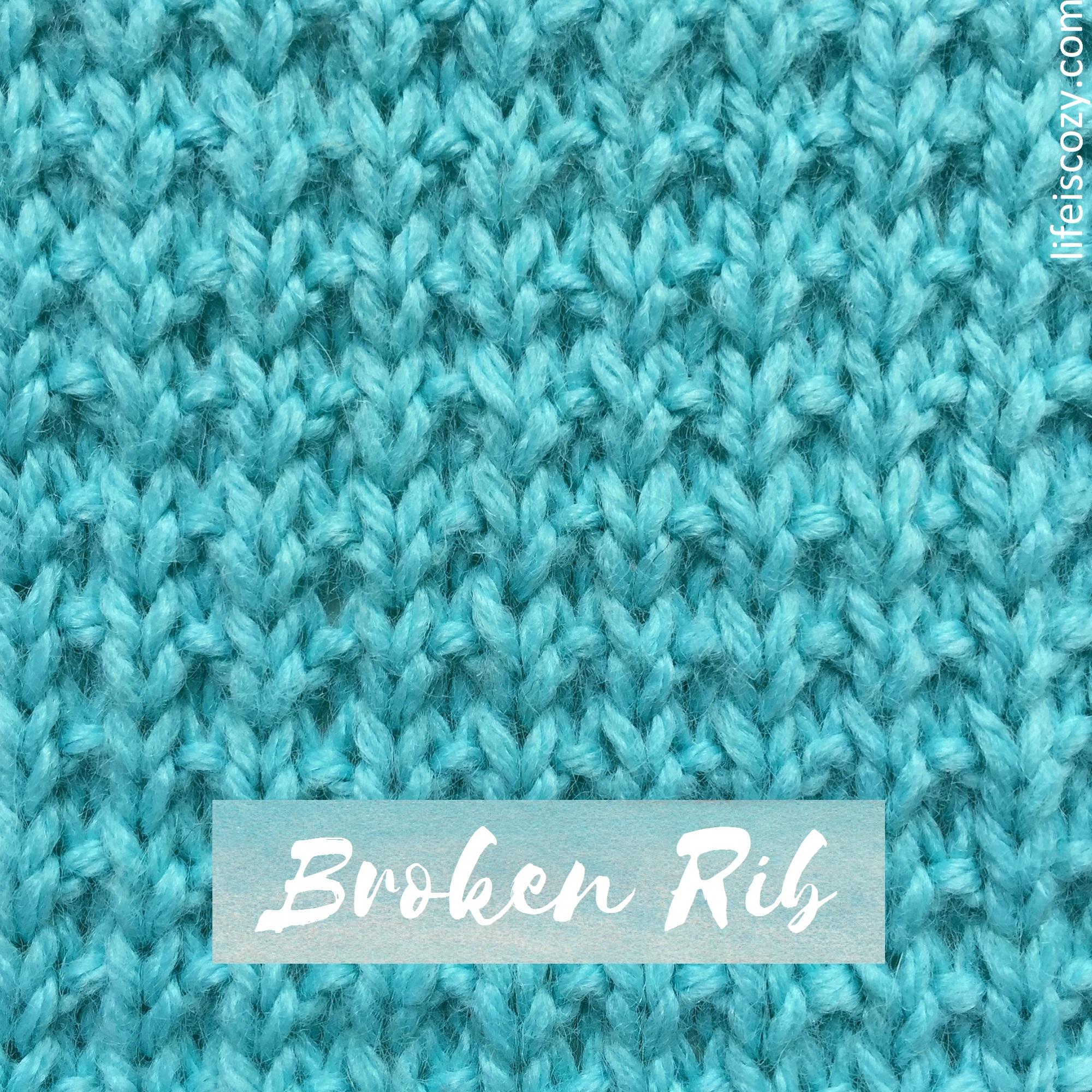 Broken Rib Stitch How to knit