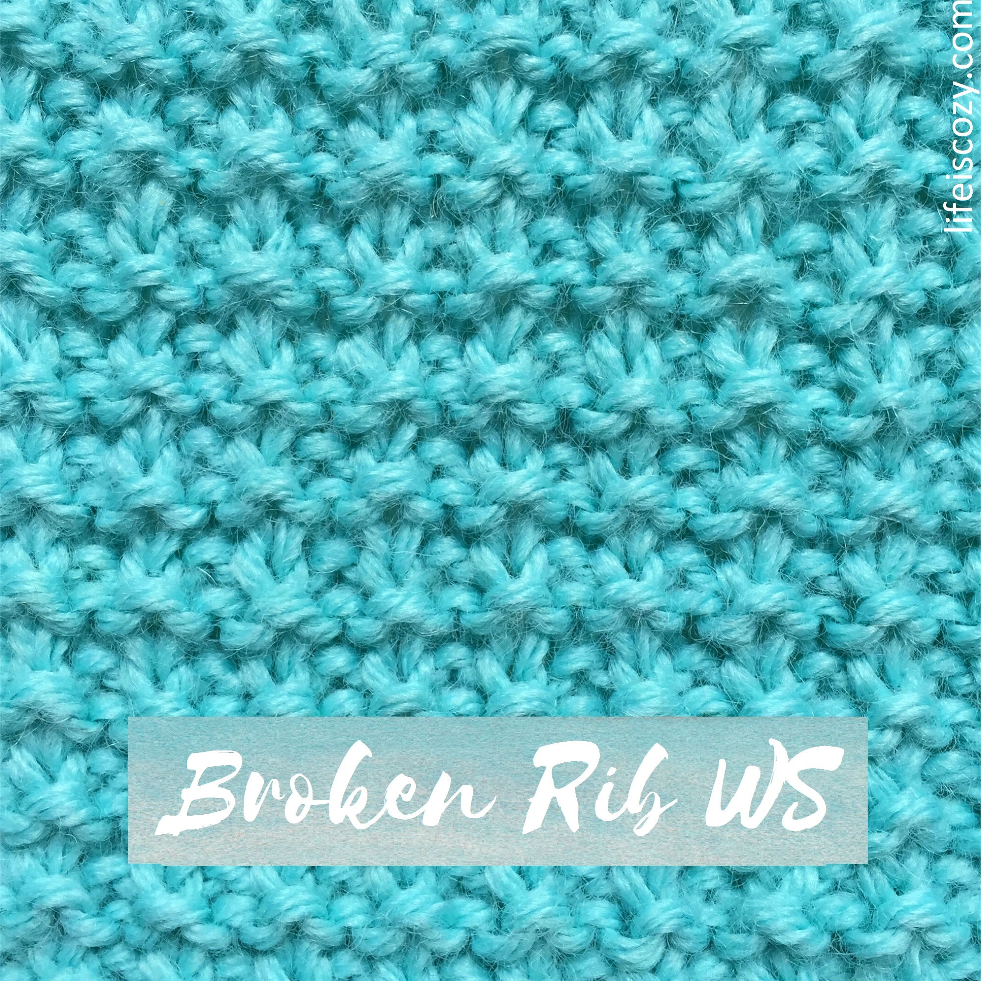 Broken Rib  Stitch Wrong Side How to knit