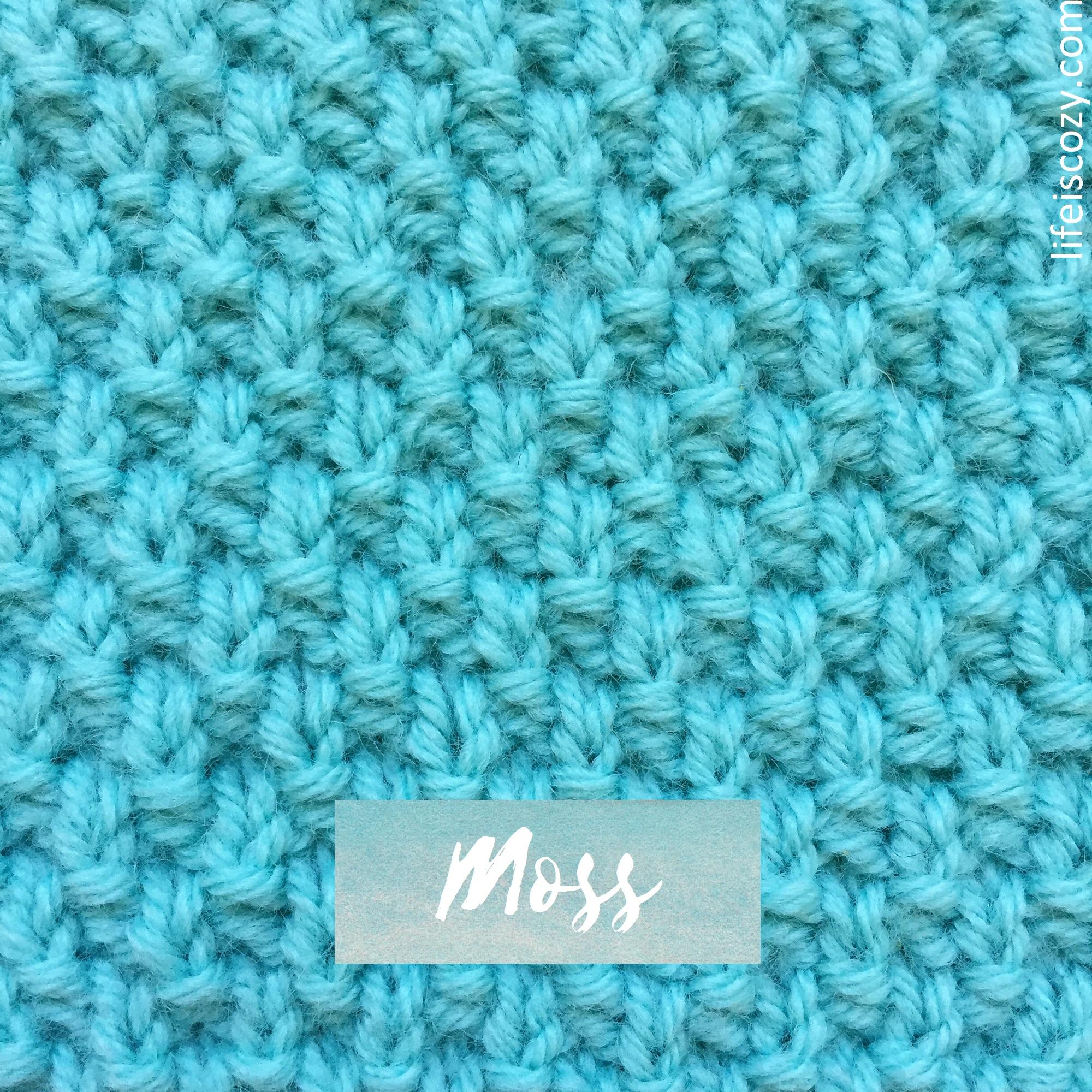 Moss Stitch How To knit