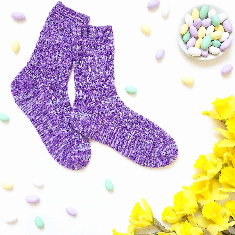 Lavender Blossom Socks