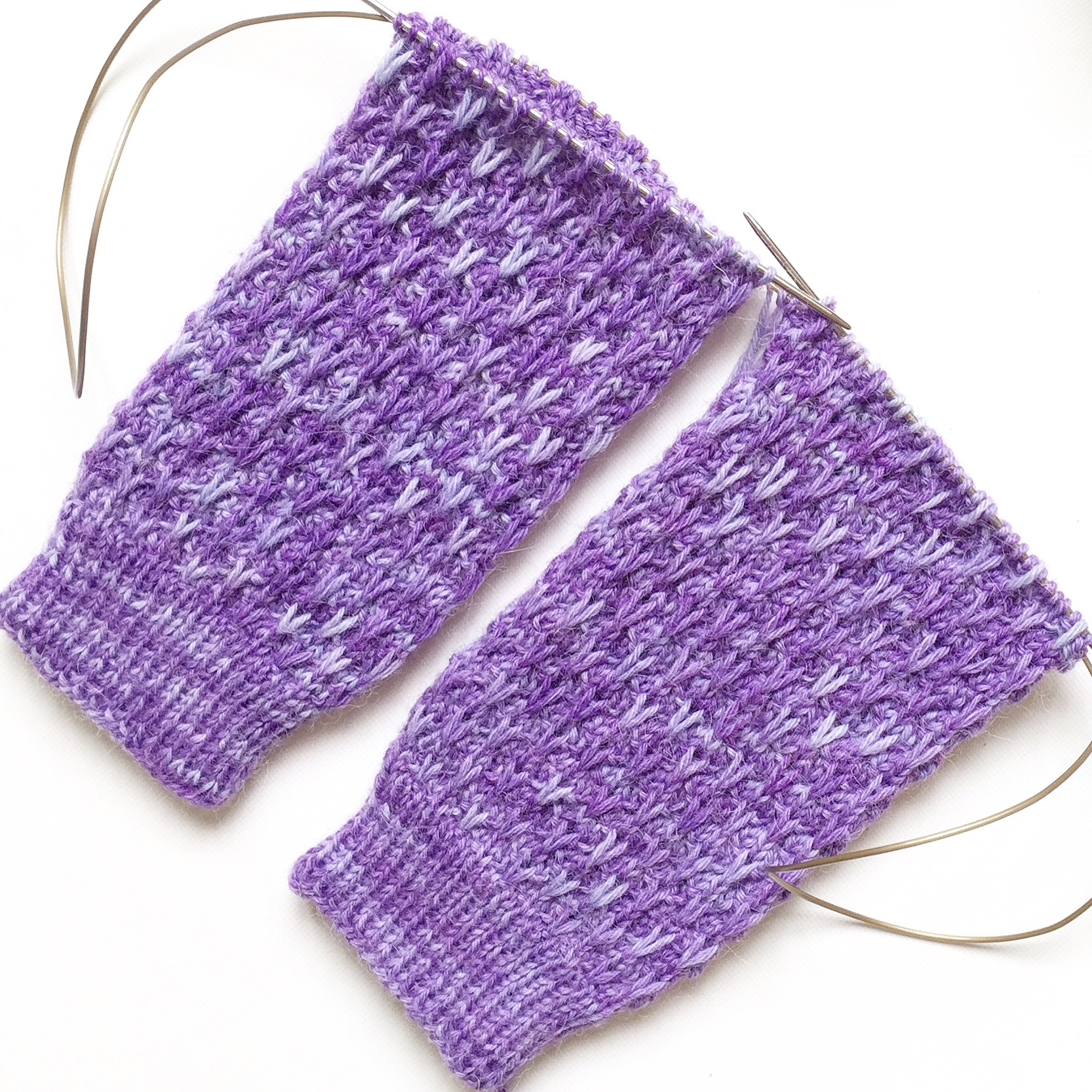 Lavender Blossom Socks Texture