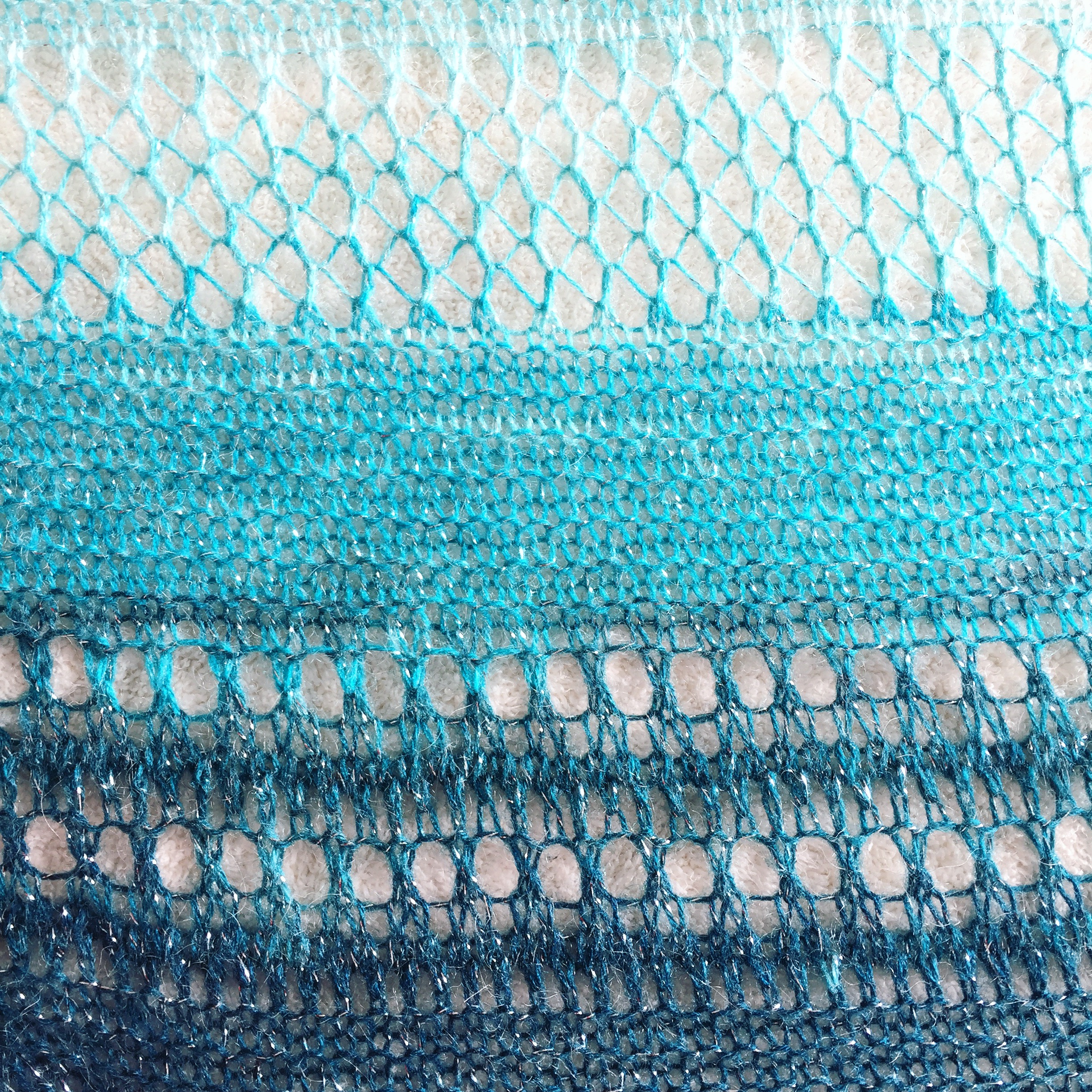 Stormy Waters Shawl Texture