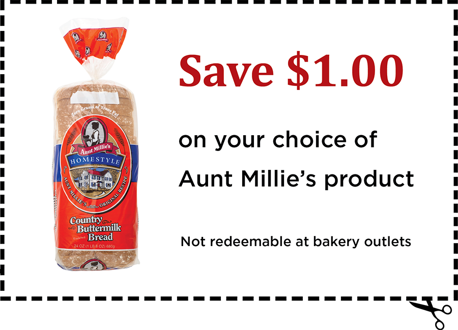 Aunt Millie's Bread Coupon
