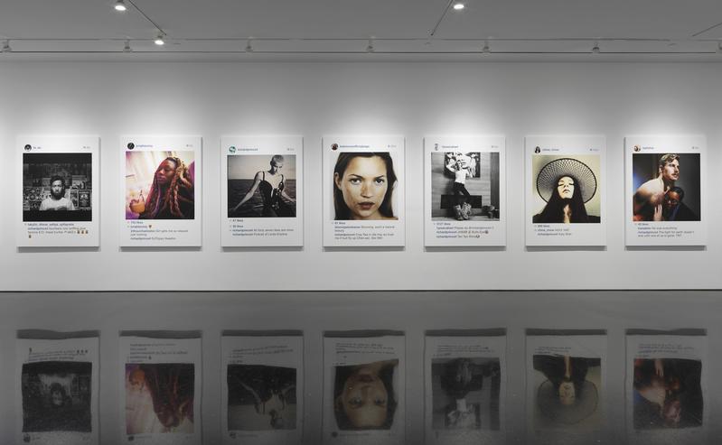 Richard Prince,  New Portraits (2014) at the Gagosian Gallery, New York. Image: Richardprince.com
