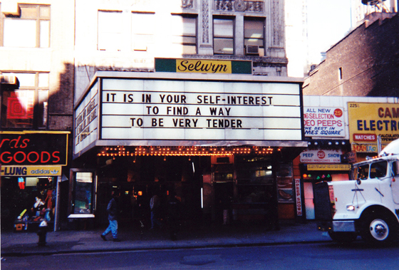 Jenny Holzer Marquee, New York City (1993). Photo by  Don Shewey .