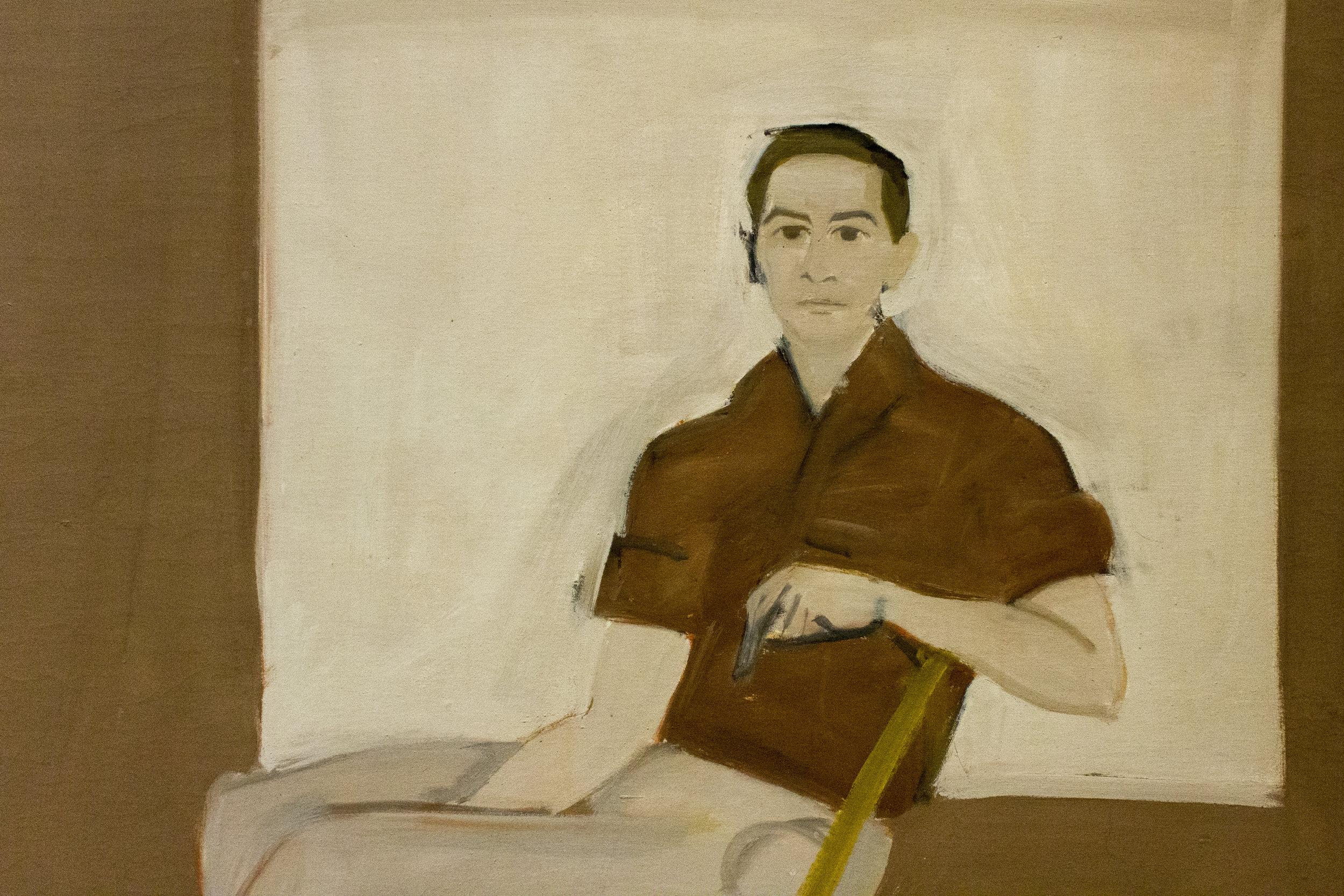 """Double Portrait of Robert Rauschenberg""1959. Oil on canvas. Alex Katz. Image courtesy of author."