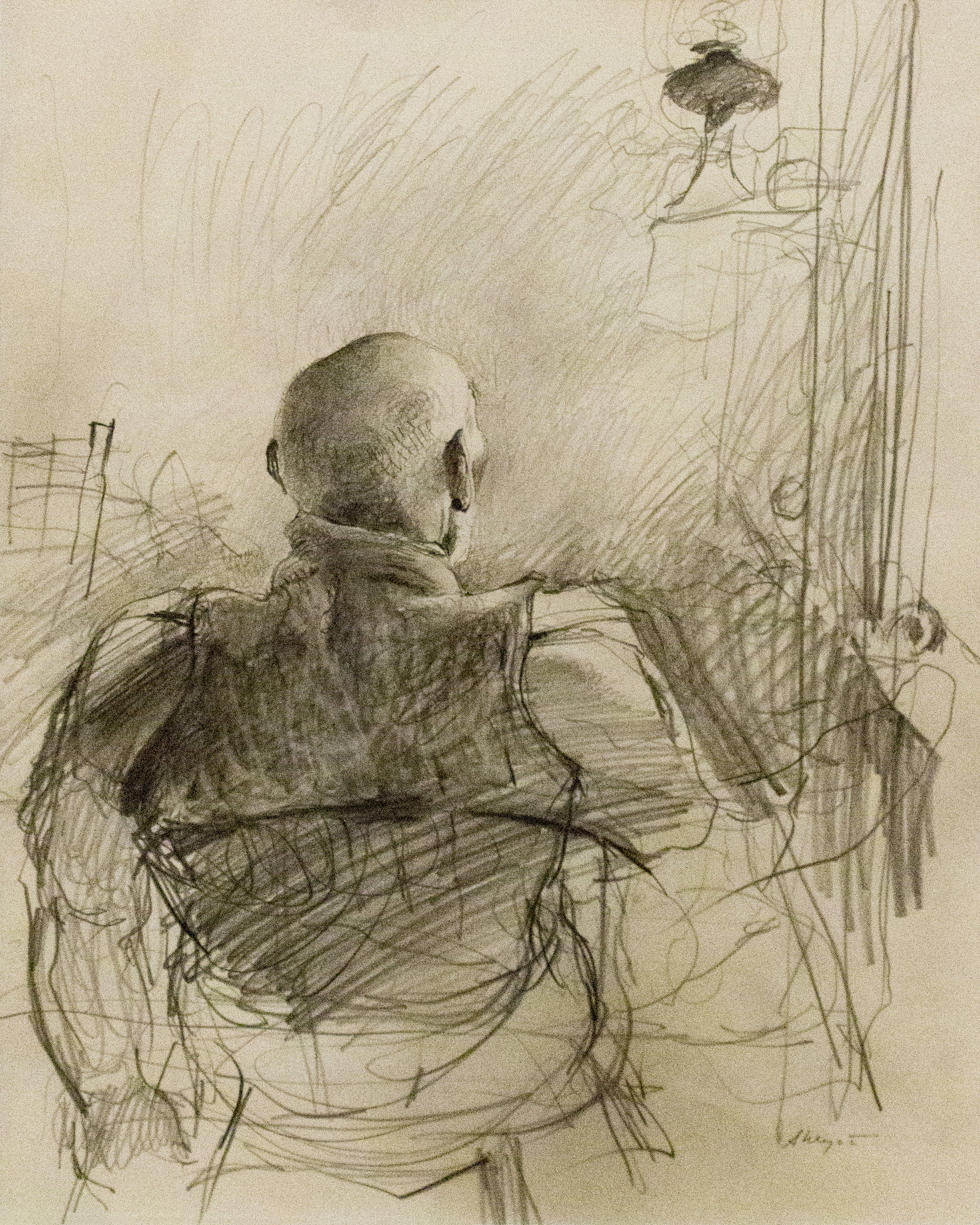 Sketch, Pencil on paper. Andrew Wyeth. The Brandywine River Museum of Art. Image courtesy of author.